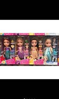 🚚 Disney迪士尼Q版公主👸含造型配件 冰雪奇緣艾莎Elsa長髮公主樂佩小美人魚愛莉兒美女與野獸貝兒