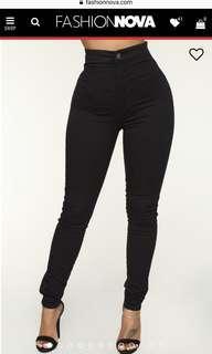 Black Super High Waisted Fashion Nova Jeans