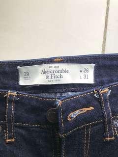 Abercrombie and Fit Dark Denim Jeans