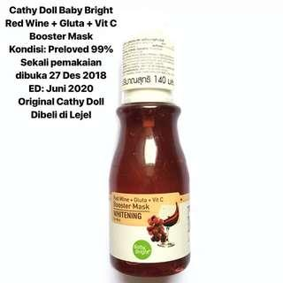 [FREE DELIVERY] Cathy Doll Baby Bright Red Wine Whitening Booster Mask