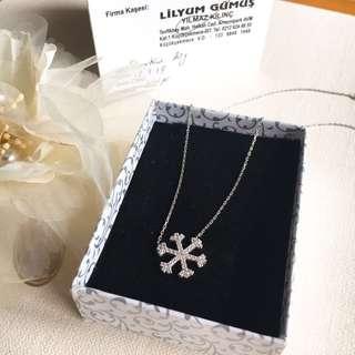 🚚 🇹🇷雪花項鍊純銀飾品/土耳其購入