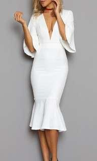 White mermaid dress
