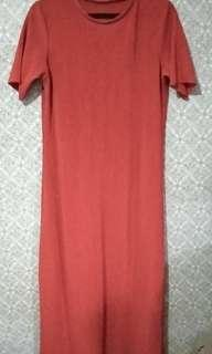 Plus size Ribbed Maxi Dress, fits Large to XXL (also available in Blue and Black)