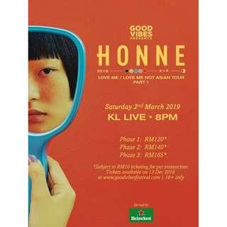 Honne Live in Malaysia KL Concert Tickets