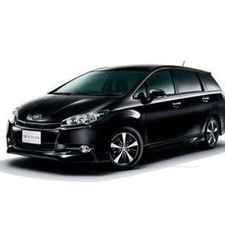 Cheap rental MPV 7 Seater - Toyota Wish - CNY 2019 RENTING OUT FAST (Grab/Gojek/Tada)