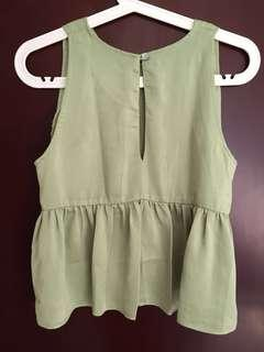 Babydoll top green #yukjualan