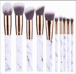 Marble make up brush