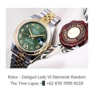 Rolex - Datejust Lady 31m, VI Diamonds Green Dial Steel & 18K Yellow Gold 'Random'
