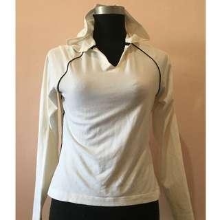 DANSKIN White Long Sleeve T-Shirt