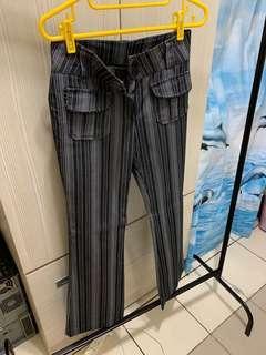 🚚 古著 直線條顯瘦褲