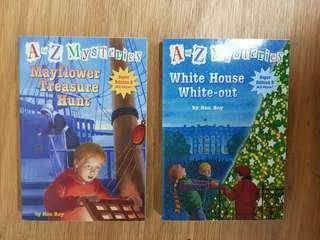 A to Z Mysteries: MayFlower Treasure Hunt. : White House  White- Out