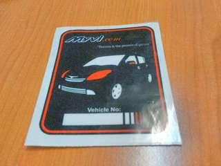 Myvi car sticker (indoor)