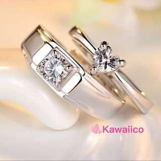🚚 S925 sterling silver couple ring INSTOCK