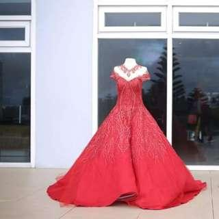Debut red ball gown