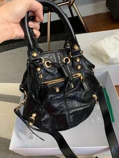 Balenciaga Bucket Bag - Black with Gold Studs