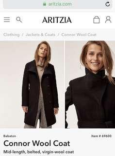Aritzia Connor Wool Coat