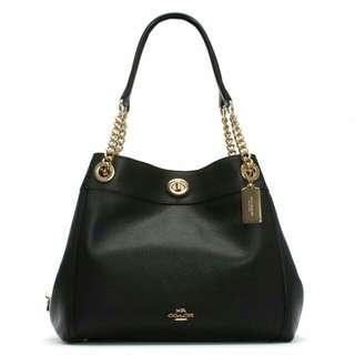 Authentic Coach Edie Leather Bag