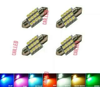 Super Bright 31mm12 SMD 3528 Car Interior Dome Festoon LED Light Bulbs Lamp White Warm white Red Green Blue Ice blue Pink
