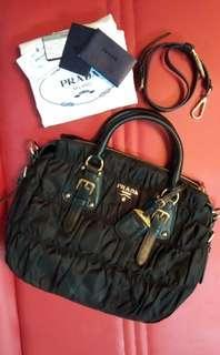 Authentic Prada Tessuto Nero Nylon Bag