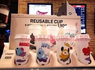 BT21 dunkin donuts reusable cup cooky