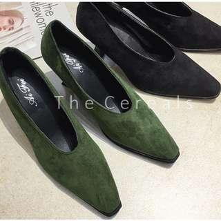 TC3270 Korea Designer Heels (Dark Green,Black)