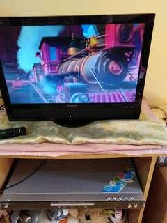 19 inch sharp tv with dvd