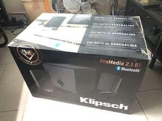 全新Klipsch promedia 2.1 藍芽電腦喇叭