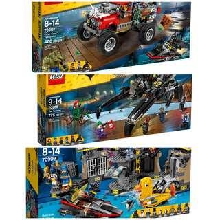 Lego Batman Movie 70907 70908 70909 70912 70916 70923