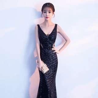 Modern Elegant Long Evening Gown
