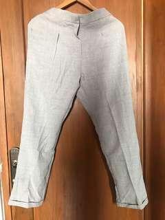 Grey Trouser Celana Bahan