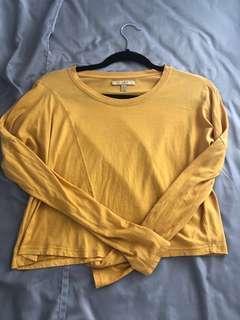 Zara Yellow Crop Long Sleeve