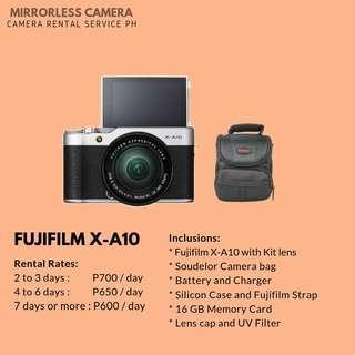 CAMERA FOR RENT - Fujifilm X-A10