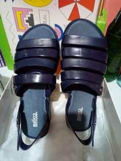 REPRICED... Melissa Creative Flat in Navy blue
