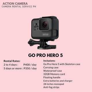 GO PRO HERO 5 FOR RENT