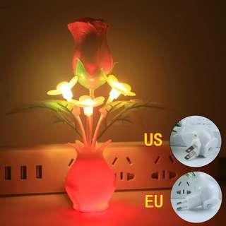 🚚 Light-Controlled ROSE LED Night