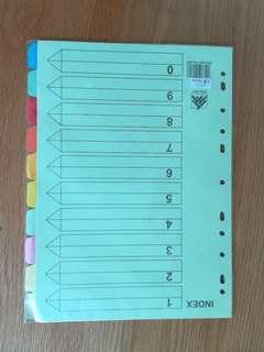 INDEX paper 10 colors