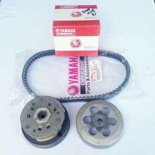 New Yamaha Rear Pulley & Belting for Ego Nouvo Ego S Nouvo S Motor Part