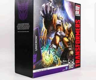 Transformers Asia Exclusive Platinum Edition Unicron Anime Movie Version Color