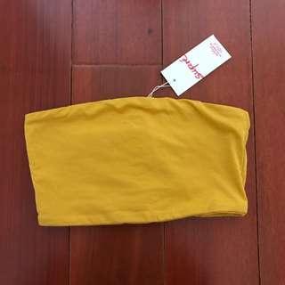 BNWT Mustard Boobtube