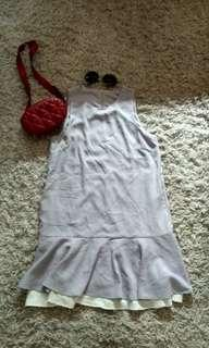 Bkk Mermaid dress size L ( dress cantik / dress import / dress keren / dress ruffle / dress rempel )