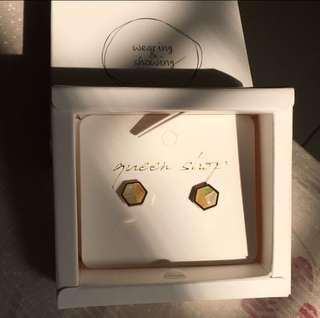 Queen shop 幾何造型 耳環