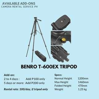 TRIPOD FOR RENT - BENRO T600EX