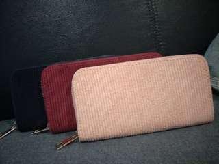Velvet long wallet