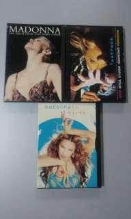 Set of 3 Madonna DVDs