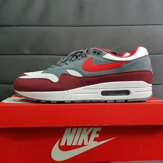 wholesale dealer 21efa c4ccd  STEAL  US11 Nike Air Max 1 University Red Wolf Grey