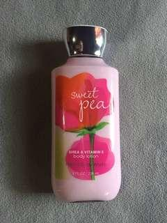 Authentic BBW Sweet Pea Lotion