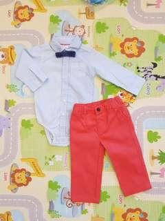 12M Baby boy clothes birthday boy clothes baby shirt pants