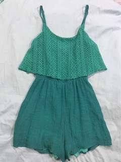 Speechless Green Lacey Romper