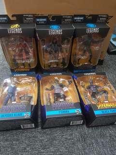Marvel legends black panther wave 2 set of 6 new ulysses klaue t chaka black panther dora milaje erik killmonger
