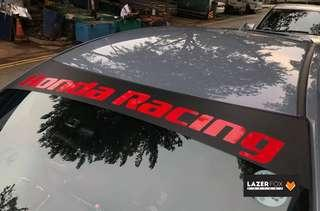 Customised Windscreen Sunshade Sticker for all cars!